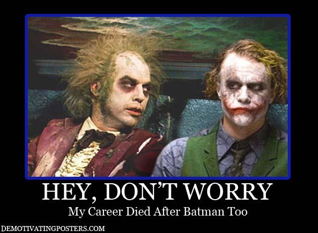 Beetlejuce y Joker, Michael Keaton consuela a Heath Ledger