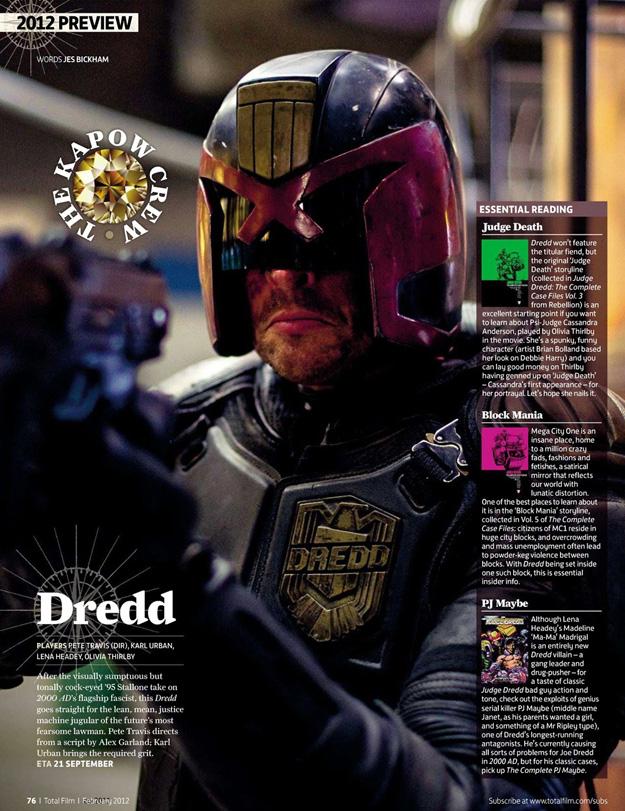 Imagen del reboot de Juez Dredd