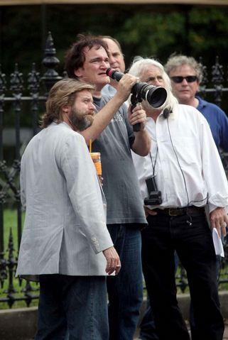 Quentin Tarantino en el set de Django Unchained