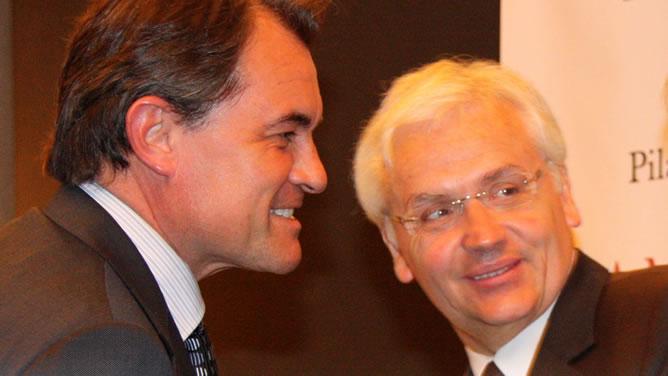 Ferran Mascarell y Artur Mas