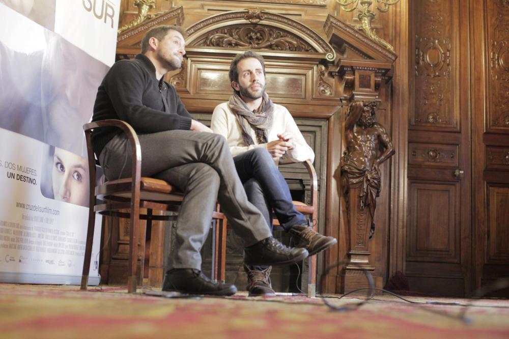 David Sanz y Tony López en rueda de prensa de Casa América de Madrid